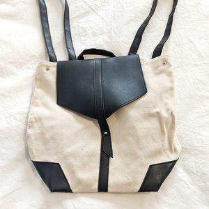 Deux Lux Backpack - Linen + Faux Leather